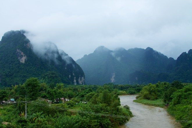 The gorgeous landscape of Vang Vieng
