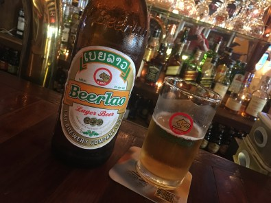 Beer Lao tastes best in Laos at the Chok Dee Cafe