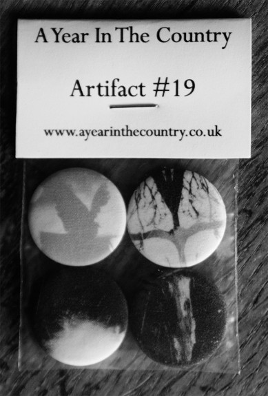 Artifact 19-Monitoring The Transmissions fabric badge pack-front of pack-A Year In The Country