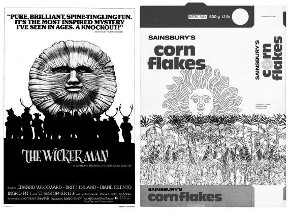 The Wickerman-Jonny Trunk-cornflakes-Own Label-Sainsburys Design studio-John Coulthart-A Year In The Country