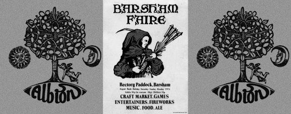 Hare and Tabor-Albion Fair tshirt-Barsham Fair poster flier