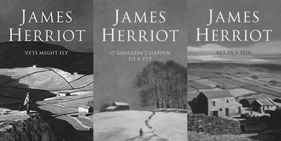James Herriot-book covers-Vets Might Fly-It Shouldnt Happen to a vet-Vet in a spin