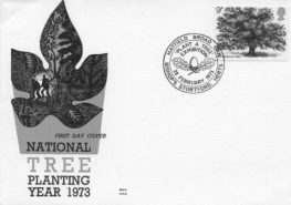 Stamp-1973-Royal Mail-Plant a Tree in 73-first day cover-2