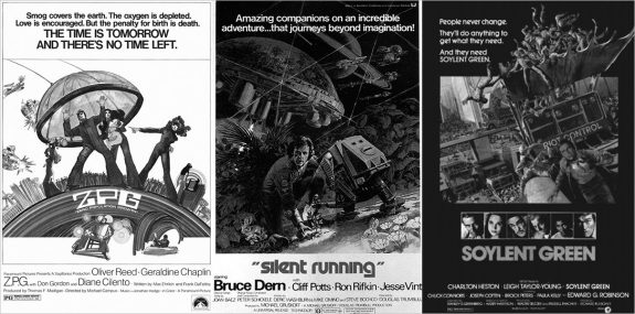 ZPG-Silent Running-Soylent Green-1970s science fiction film posters