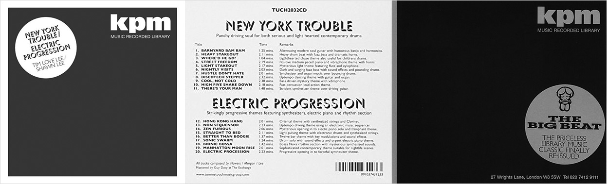 KPM-New York Trouble-The Big Beat-Tummy Touch reissues-library music