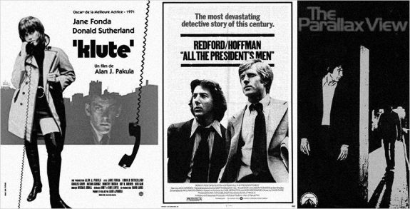 Klute-All The Presidents Men-The Parallax View-film posters-Alan J Pakula