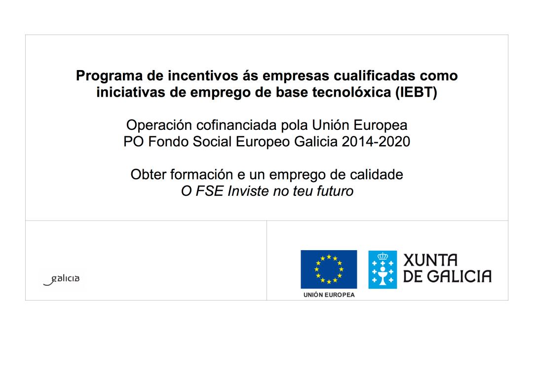 Programa de incentivos ás empresas cualificadas como iniciativas de emprego de base tecnolóxica