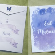 ayeina ribbon design watercolor background money envelope for kids at eid