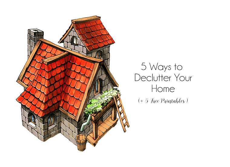 5 Ways to Conquer Decluttering Your Home (+5 Free Printables)