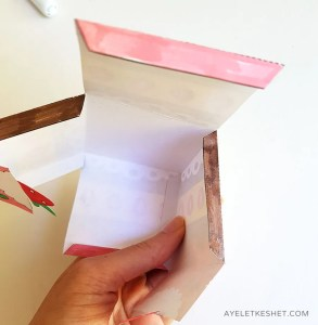 DIY paper gift box with a printable template - step 7
