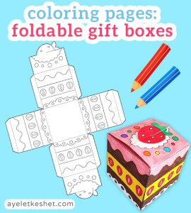 DIY paper gift box with a printable template