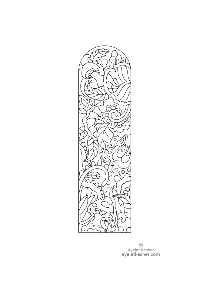 printable bookmarks for coloring