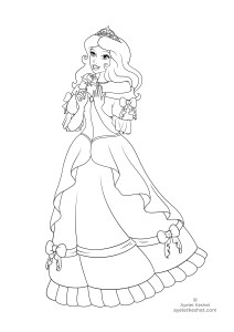 coloring pages about fairy tales - princess