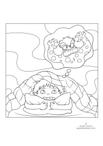 coloring pages about feelings - scared
