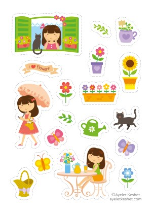 Free cute printable stickers