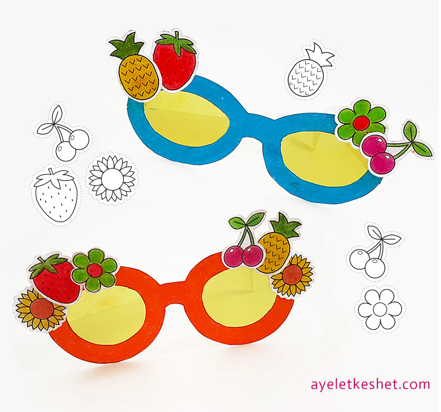 DIY craft paper sunglasses with