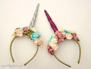 DIY unicorn horn headband with bangs - step 8