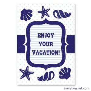Free printable nautical design greeting cards