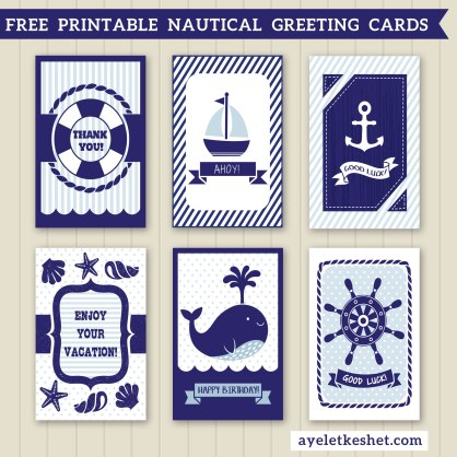 FREE PRINTABLE NAUTICAL THEME GREETING CARDS