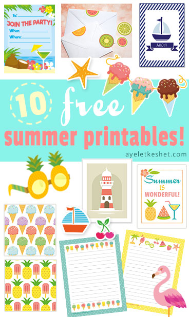 10 Free summer printables party home and stationery Ayelet Keshet