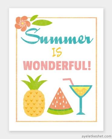 free summer printables - wall art