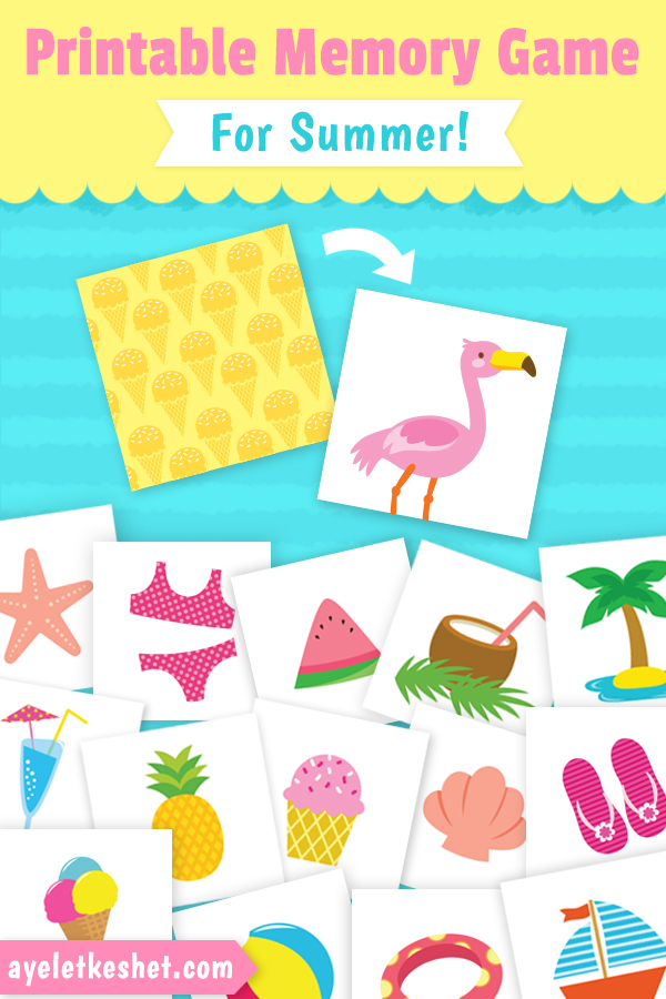 graphic relating to Memory Games Printable known as Absolutely free Printable Memory Video game for Young children With Pics for Summer months