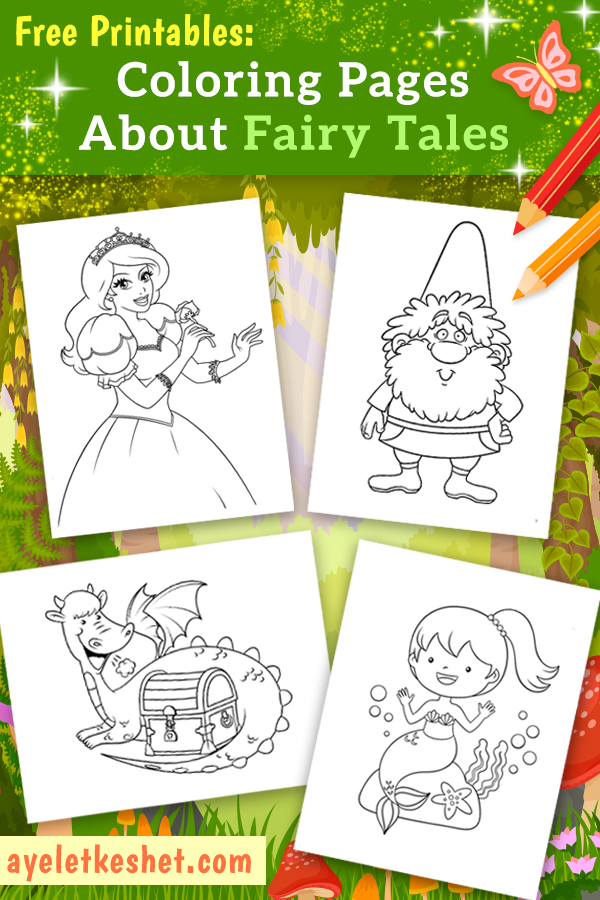 Coloring Pages About Fairy Tales For Kids Ayelet Keshet