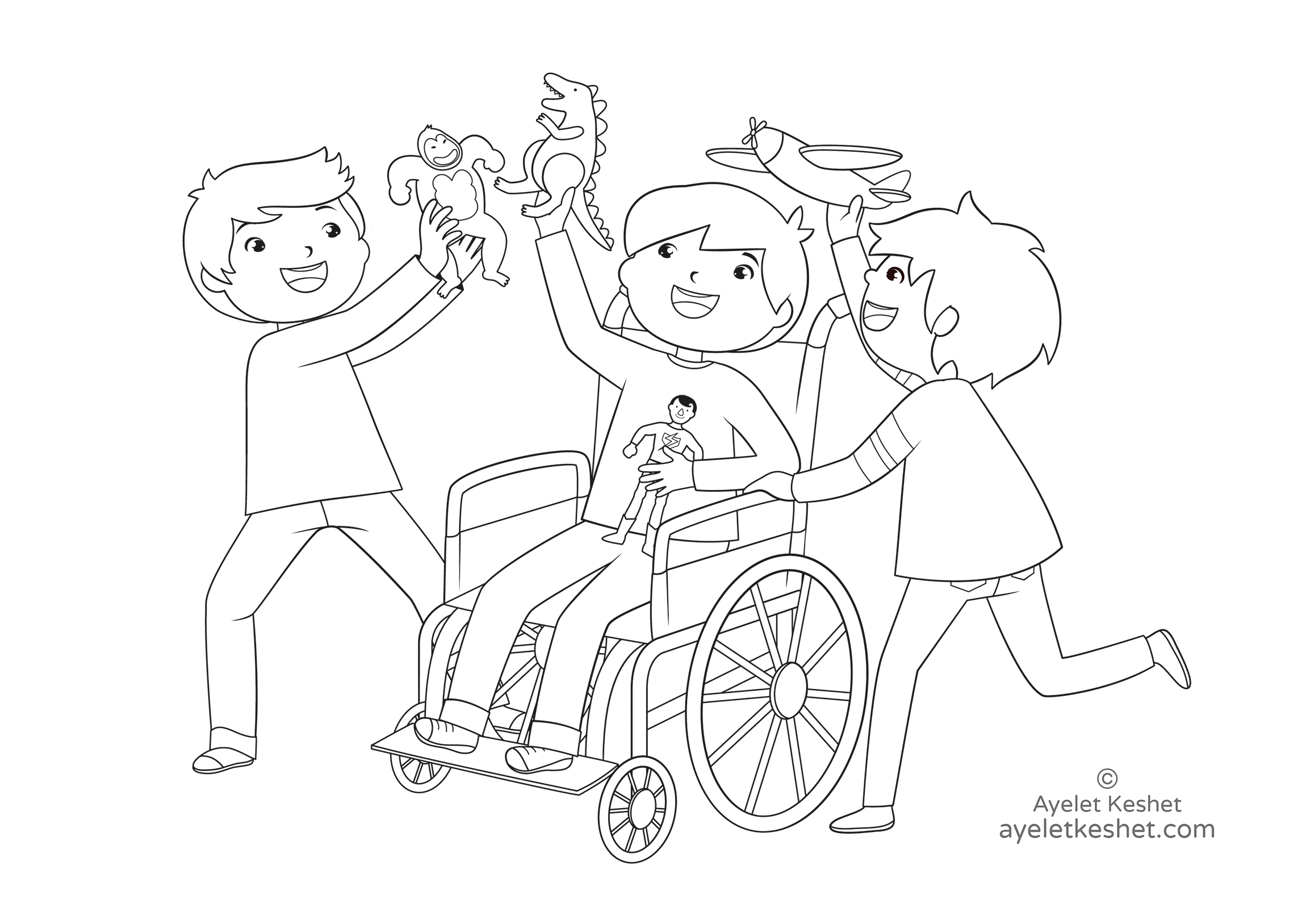 - Free Coloring Pages About Friendship - Ayelet Keshet