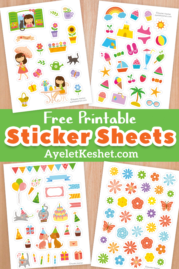 It is a picture of Superb Free Printable Stickers