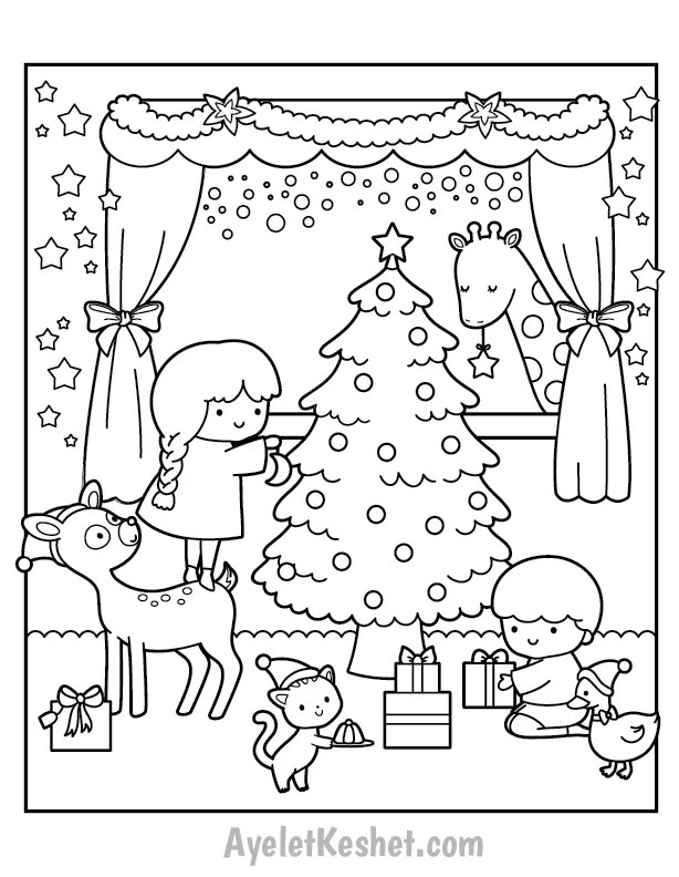 Free Printable Christmas Coloring Pages for kids - Ayelet ...