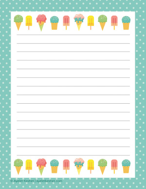 graphic regarding Free Printable Stationary known as No cost printable letter paper - Ayelet Keshet