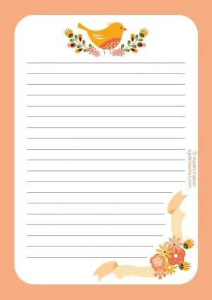 photograph regarding Stationary Printable named No cost printable letter paper - Ayelet Keshet