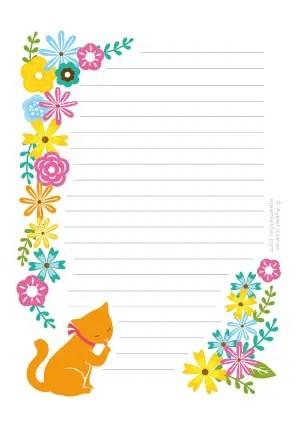 Free printable letter paper - Ayelet Keshet