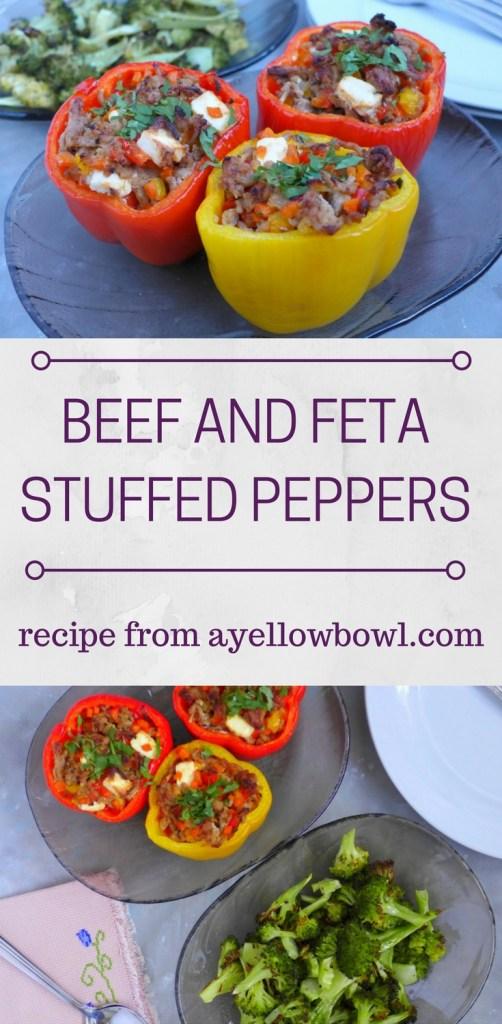 Beef & Feta Stuffed Peppers