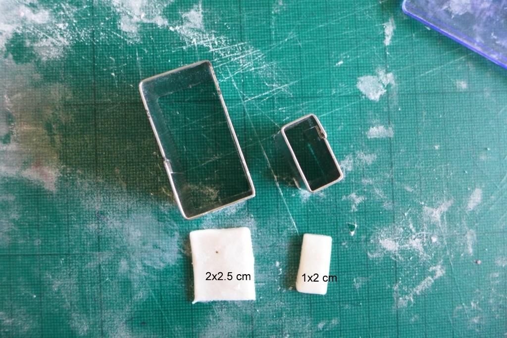 white fondant rectangles