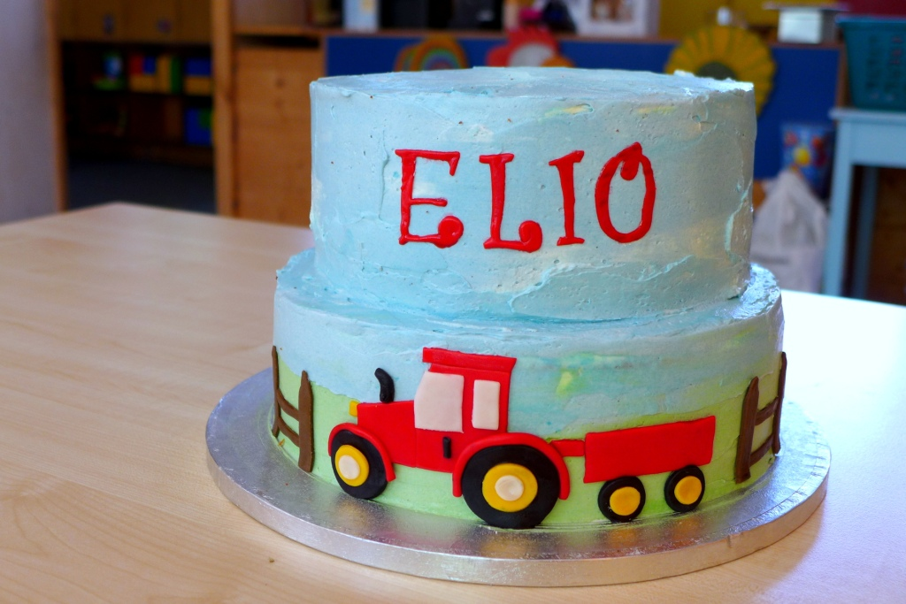 assembled tractor cake