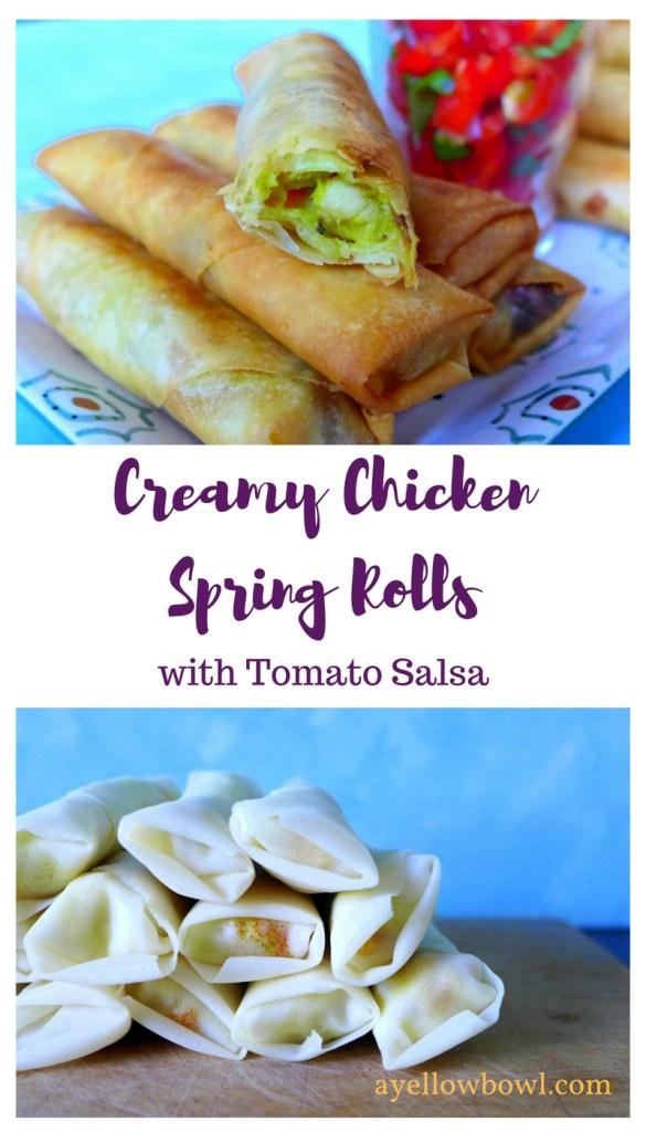 chicken spring rolls