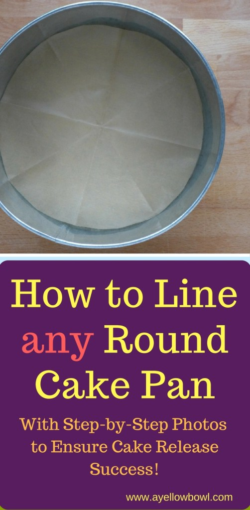 how to line any round cake pan