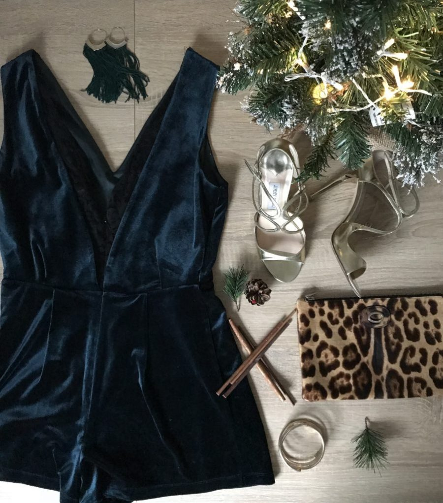 Festive fashion flatlay