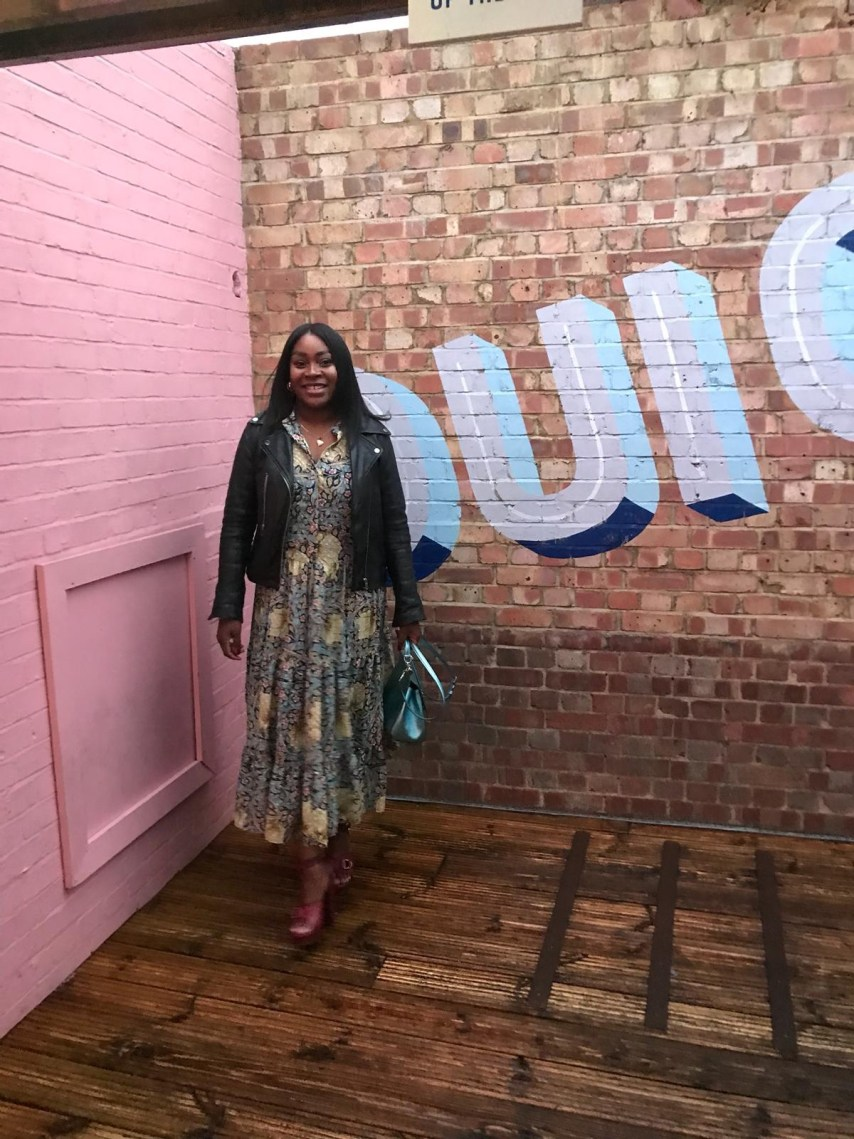 ayesha amato wear HM and Morris and Co dress for Mum A Porter