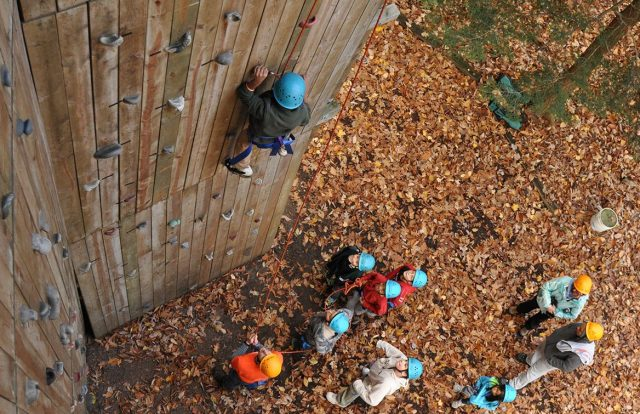Miniwanca students climbs wall (cover)