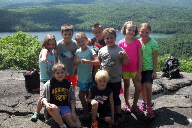 Camp Merrowvista Day Camp ledge hike outdoor fun