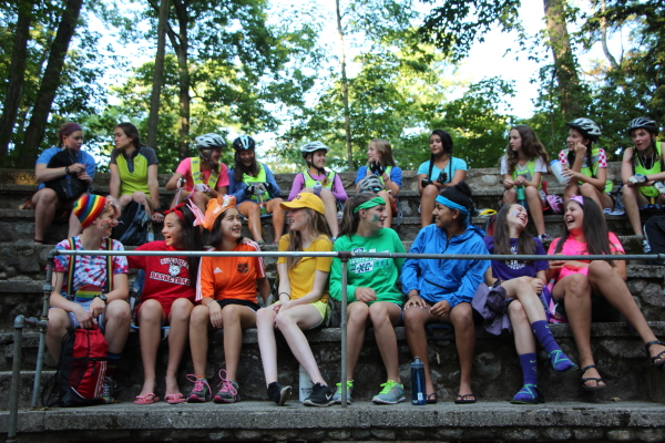Explorer Campers in Tribal Council
