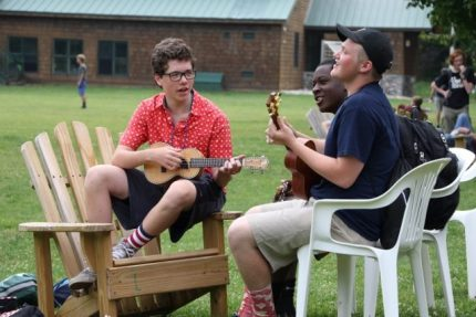 Music makers in Boys Camp
