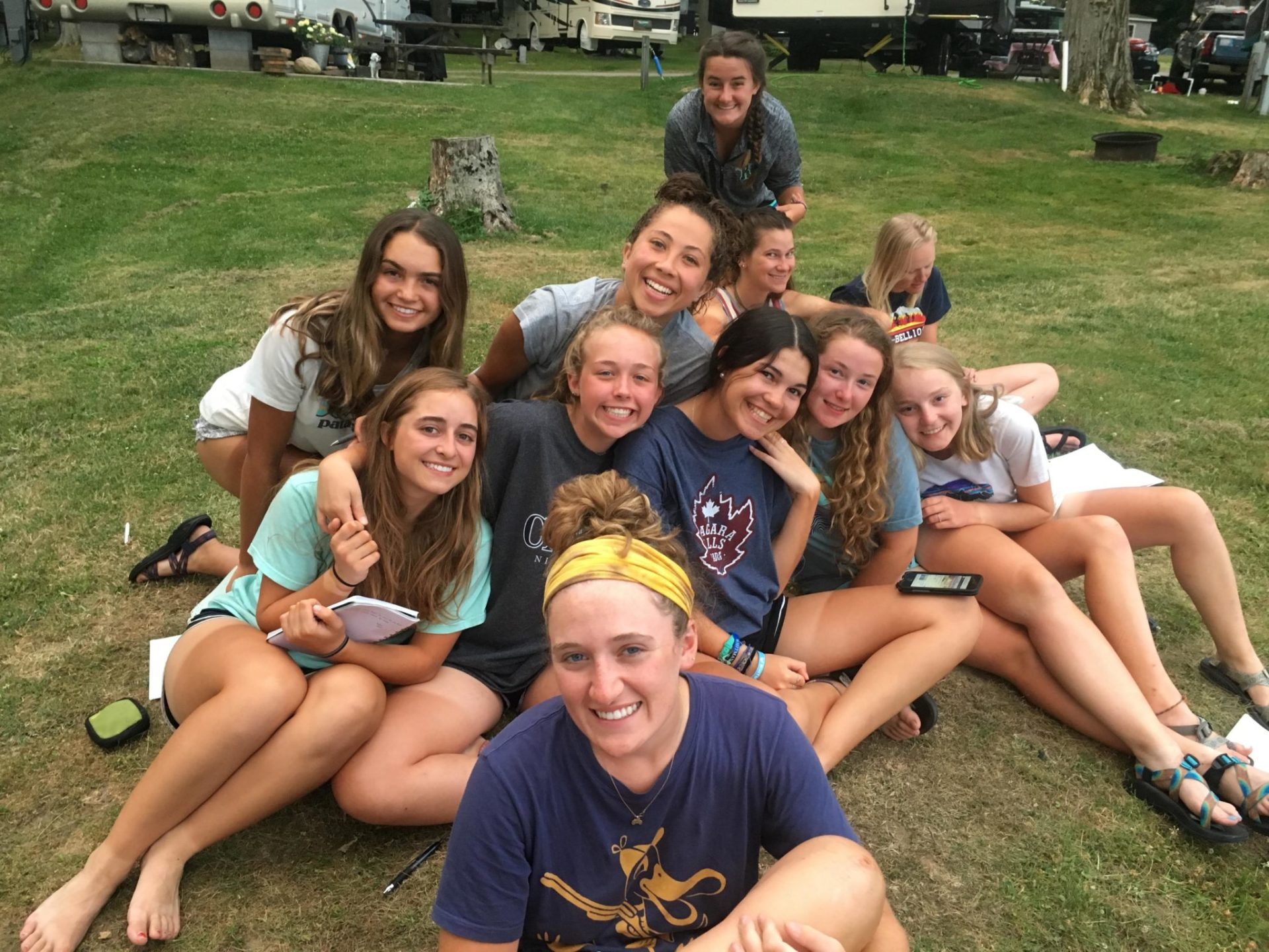 Girls Camp Four Trails Group 2018