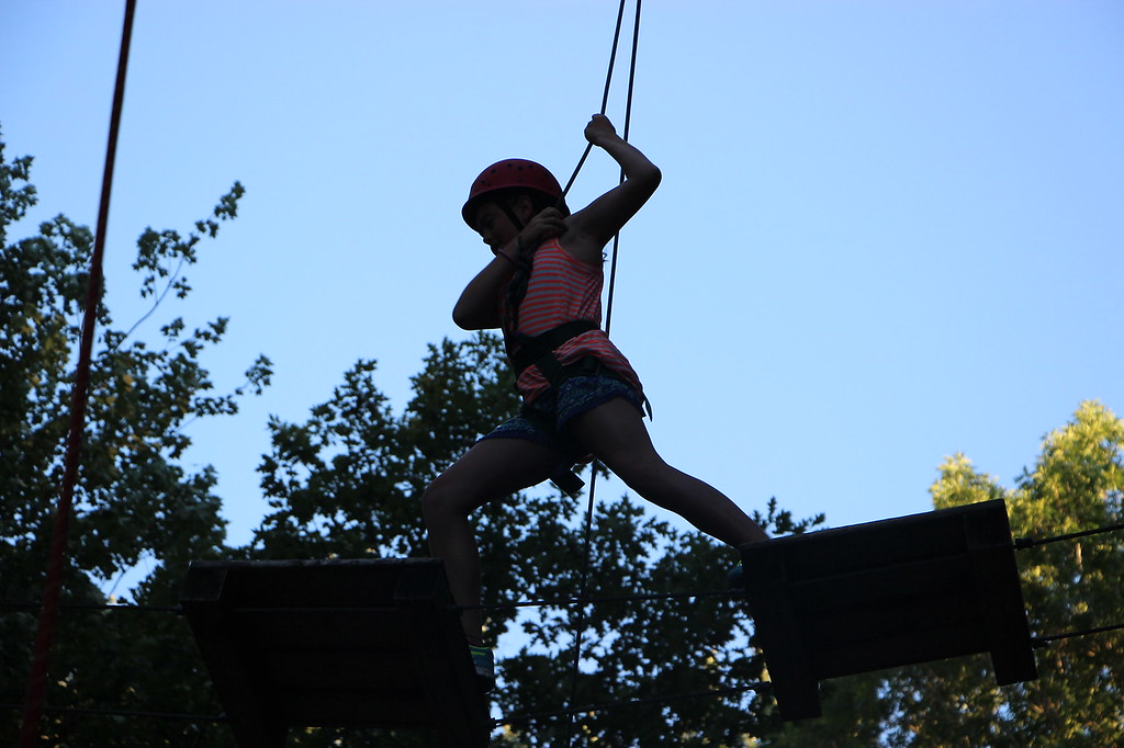 climbing, high ropes, Miniwanca, Michigan, Summer Camp, Girls Camp