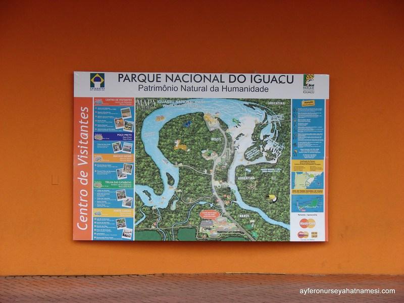 İguacu Şelaleleri Haritası