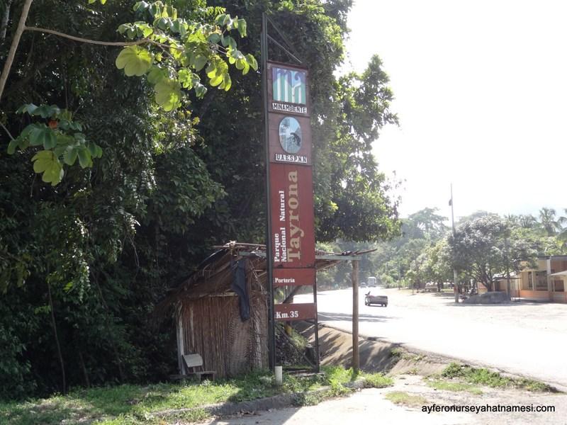Tayrona Milli Parkı girişi