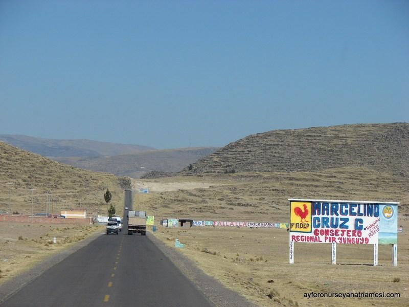 Cusco - Puno Arası Yollar (Peru İnka Express Otobüsten)