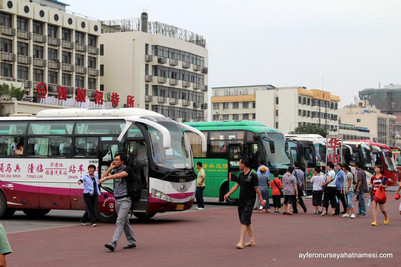 Xi'an otobüs - minibüs durakları